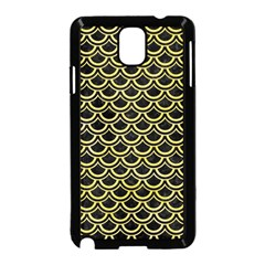 Scales2 Black Marble & Yellow Watercolor (r) Samsung Galaxy Note 3 Neo Hardshell Case (black)