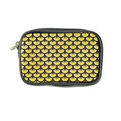 Scales3 Black Marble & Yellow Watercolor Coin Purse