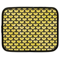 Scales3 Black Marble & Yellow Watercolor Netbook Case (xl)