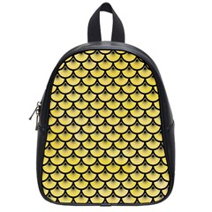 Scales3 Black Marble & Yellow Watercolor School Bag (small)