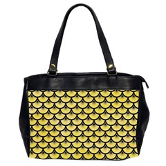 Scales3 Black Marble & Yellow Watercolor Office Handbags (2 Sides)