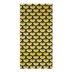 Scales3 Black Marble & Yellow Watercolor Shower Curtain 36  X 72  (stall)