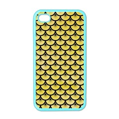 Scales3 Black Marble & Yellow Watercolor Apple Iphone 4 Case (color)