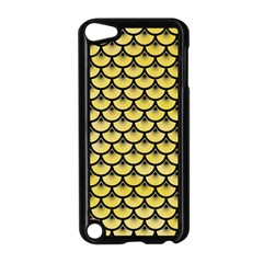Scales3 Black Marble & Yellow Watercolor Apple Ipod Touch 5 Case (black)
