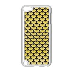 Scales3 Black Marble & Yellow Watercolor Apple Ipod Touch 5 Case (white)