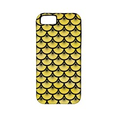 Scales3 Black Marble & Yellow Watercolor Apple Iphone 5 Classic Hardshell Case (pc+silicone)