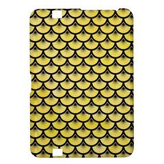 Scales3 Black Marble & Yellow Watercolor Kindle Fire Hd 8 9
