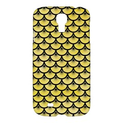 Scales3 Black Marble & Yellow Watercolor Samsung Galaxy S4 I9500/i9505 Hardshell Case