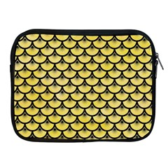 Scales3 Black Marble & Yellow Watercolor Apple Ipad 2/3/4 Zipper Cases