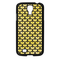 Scales3 Black Marble & Yellow Watercolor Samsung Galaxy S4 I9500/ I9505 Case (black)