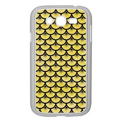 Scales3 Black Marble & Yellow Watercolor Samsung Galaxy Grand Duos I9082 Case (white)