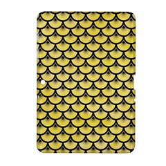 Scales3 Black Marble & Yellow Watercolor Samsung Galaxy Tab 2 (10 1 ) P5100 Hardshell Case