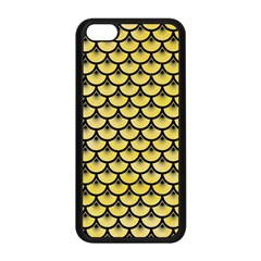 Scales3 Black Marble & Yellow Watercolor Apple Iphone 5c Seamless Case (black)