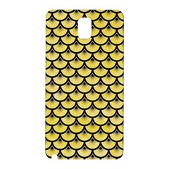 Scales3 Black Marble & Yellow Watercolor Samsung Galaxy Note 3 N9005 Hardshell Back Case