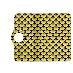 Scales3 Black Marble & Yellow Watercolor Kindle Fire Hdx 8 9  Flip 360 Case