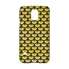 Scales3 Black Marble & Yellow Watercolor Samsung Galaxy S5 Hardshell Case
