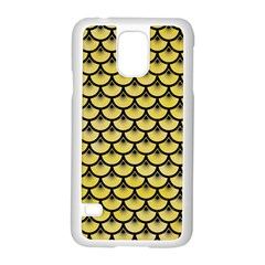 Scales3 Black Marble & Yellow Watercolor Samsung Galaxy S5 Case (white)
