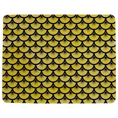 Scales3 Black Marble & Yellow Watercolor Jigsaw Puzzle Photo Stand (rectangular)