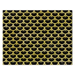 Scales3 Black Marble & Yellow Watercolor (r) Rectangular Jigsaw Puzzl