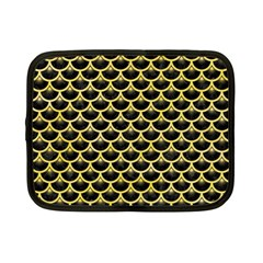 Scales3 Black Marble & Yellow Watercolor (r) Netbook Case (small)
