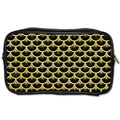 Scales3 Black Marble & Yellow Watercolor (r) Toiletries Bags