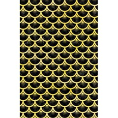 Scales3 Black Marble & Yellow Watercolor (r) 5 5  X 8 5  Notebooks