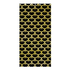 Scales3 Black Marble & Yellow Watercolor (r) Shower Curtain 36  X 72  (stall)