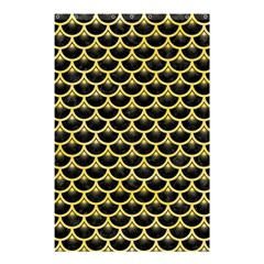 Scales3 Black Marble & Yellow Watercolor (r) Shower Curtain 48  X 72  (small)