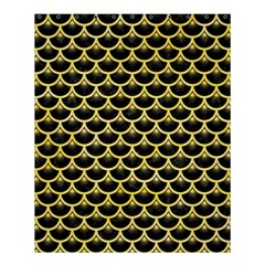 Scales3 Black Marble & Yellow Watercolor (r) Shower Curtain 60  X 72  (medium)