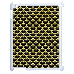 Scales3 Black Marble & Yellow Watercolor (r) Apple Ipad 2 Case (white)