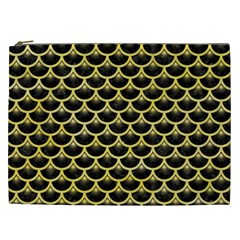 Scales3 Black Marble & Yellow Watercolor (r) Cosmetic Bag (xxl)