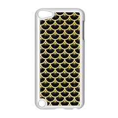Scales3 Black Marble & Yellow Watercolor (r) Apple Ipod Touch 5 Case (white)