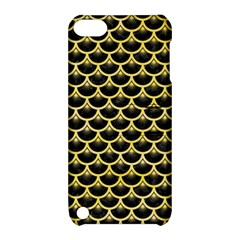 Scales3 Black Marble & Yellow Watercolor (r) Apple Ipod Touch 5 Hardshell Case With Stand