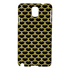 Scales3 Black Marble & Yellow Watercolor (r) Samsung Galaxy Note 3 N9005 Hardshell Case