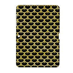 Scales3 Black Marble & Yellow Watercolor (r) Samsung Galaxy Tab 2 (10 1 ) P5100 Hardshell Case