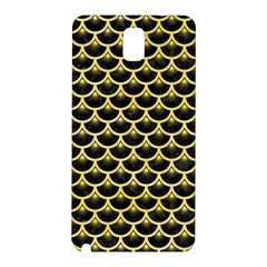 Scales3 Black Marble & Yellow Watercolor (r) Samsung Galaxy Note 3 N9005 Hardshell Back Case