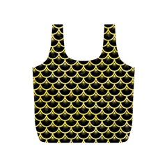 Scales3 Black Marble & Yellow Watercolor (r) Full Print Recycle Bags (s)