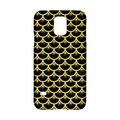 Scales3 Black Marble & Yellow Watercolor (r) Samsung Galaxy S5 Hardshell Case