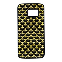 Scales3 Black Marble & Yellow Watercolor (r) Samsung Galaxy S7 Black Seamless Case