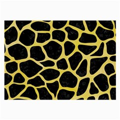 Skin1 Black Marble & Yellow Watercolor Large Glasses Cloth