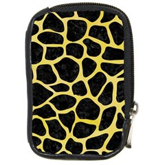 Skin1 Black Marble & Yellow Watercolor Compact Camera Cases