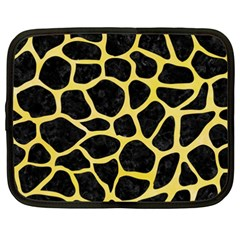 Skin1 Black Marble & Yellow Watercolor Netbook Case (xxl)