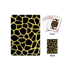 Skin1 Black Marble & Yellow Watercolor Playing Cards (mini)