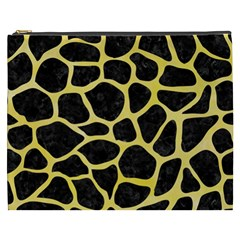 Skin1 Black Marble & Yellow Watercolor Cosmetic Bag (xxxl)