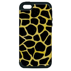 Skin1 Black Marble & Yellow Watercolor Apple Iphone 5 Hardshell Case (pc+silicone)