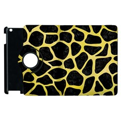 Skin1 Black Marble & Yellow Watercolor Apple Ipad 2 Flip 360 Case