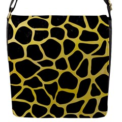 Skin1 Black Marble & Yellow Watercolor Flap Messenger Bag (s)
