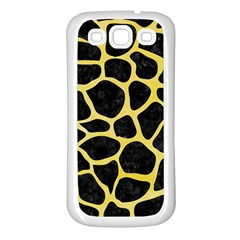 Skin1 Black Marble & Yellow Watercolor Samsung Galaxy S3 Back Case (white)