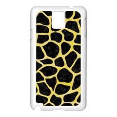 Skin1 Black Marble & Yellow Watercolor Samsung Galaxy Note 3 N9005 Case (white)