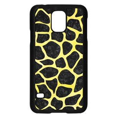 Skin1 Black Marble & Yellow Watercolor Samsung Galaxy S5 Case (black)